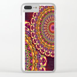 Ankh & Lotus Mandala Clear iPhone Case