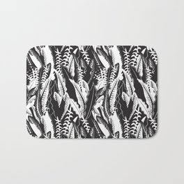 Inner Jungle in Black and White Bath Mat