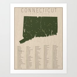 Connecticut Parks Art Print