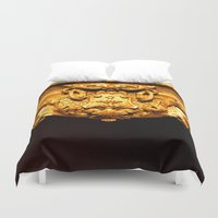 frame Duvet Covers featuring Gold Frame by tracy-Me