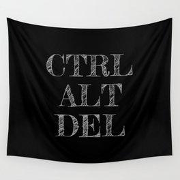 CTRL ALT DEL dark Wall Tapestry