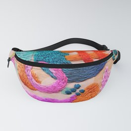 abstract embroidery Fanny Pack