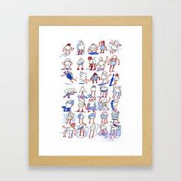 Buncha Folks Alternate Framed Art Print