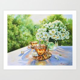 """May tea"" Art Print"
