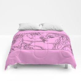Kiss Boy and Girl Comforters