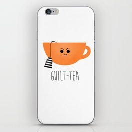 Guilt-tea iPhone Skin