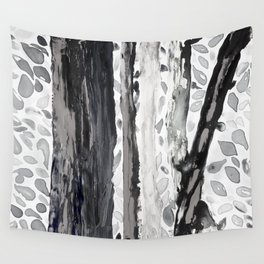 Rainbow Eucalyptus Graffiti artist tree from shedding bark South Pacific Black and White Night Wall Tapestry