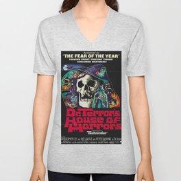 House of Horrors, doctor Terrors, vintage horror movie poster Unisex V-Neck