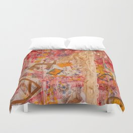 The Red Wall Duvet Cover