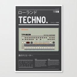 Detroit-909 Canvas Print