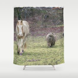 Tripper and The Goats Shower Curtain