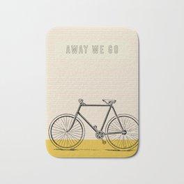 Away We Go Bike Art Bath Mat