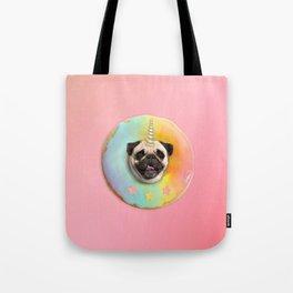 Unicorn Pug Pastel Donut Tote Bag