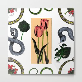 Plants & Snakes Metal Print