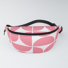 Mid Century Modern Geometric 04 Pink Fanny Pack