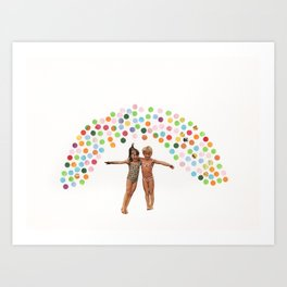 Saw a Rainbow Today Art Print