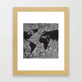If we were meant to be in one place we'd have roots Framed Art Print
