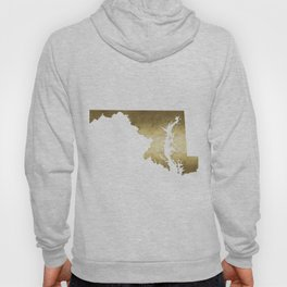 maryland gold foil state map Hoody