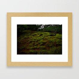 WINTER MOSS Framed Art Print
