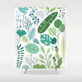 Botanical Chart Shower Curtain