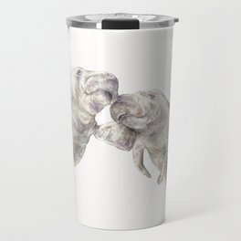 Manatees in love Travel Mug