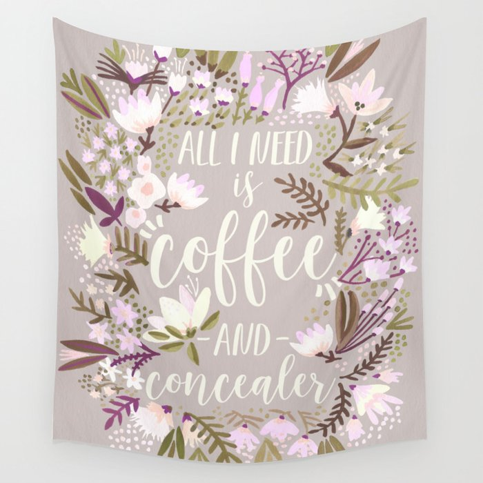 Coffee & Concealer – Spring Palette Wall Tapestry