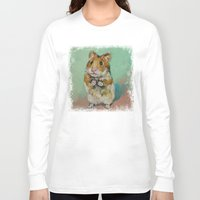 hamster Long Sleeve T-shirts featuring Hamster by Michael Creese