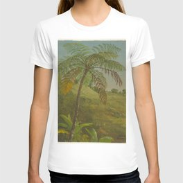Vintage Painting of Palm Tree in Jamacia, 1865 T-shirt