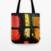 stained glass Tote Bags featuring Stained glass by Pirmin Nohr