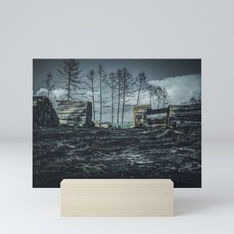 Poltery Site (Wood Storage Area) After Storm Victoria Möhne Forest dark Mini Art Print