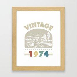 Birthday Gift Vintage 1974 Classic Framed Art Print