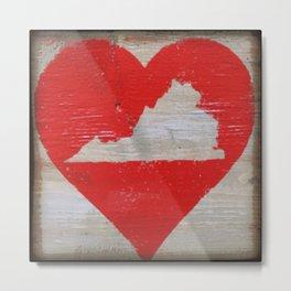 Virginia - State Love  Metal Print