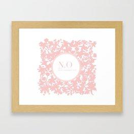 N.O means next opportunity Framed Art Print