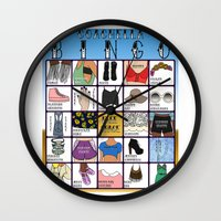 coachella Wall Clocks featuring Coachella BINGO Board by Highly Anticipated