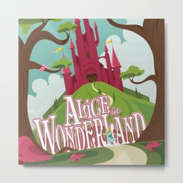 Alice in Wonderland - Lewis Carroll Metal Print
