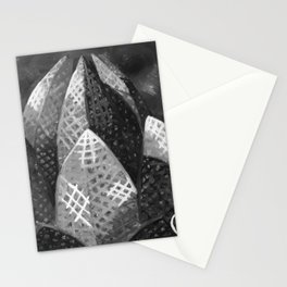 Lotus Temple by Lu, Black and White Stationery Cards