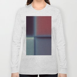 Abstract Blurred Block Pattern Design Long Sleeve T-shirt