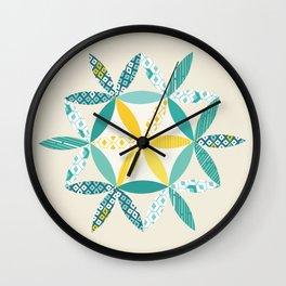 Patchwork Sunshine Wall Clock