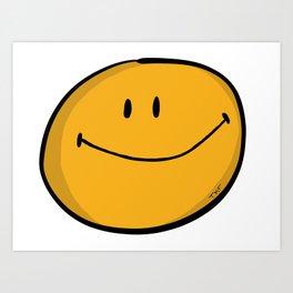 Classic Smiley Art Print