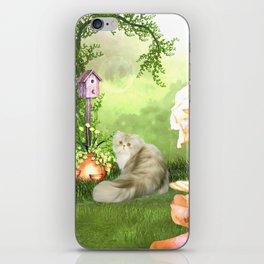 Cute cat iPhone Skin