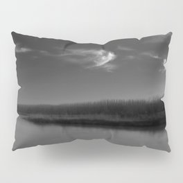 Winter Lake in Black and White Pillow Sham