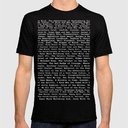 Banned Literature Internationally Print on Black T-shirt