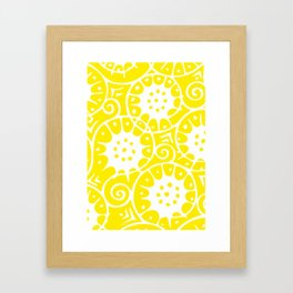 Lemon Swirl Pattern Framed Art Print