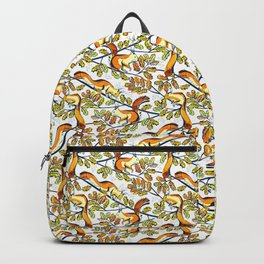 Oak Tree with Squirrels in Winter Backpack
