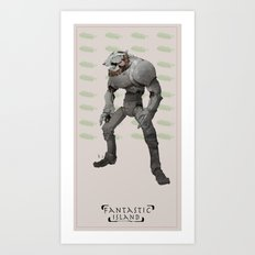 FI robot Art Print