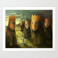 In the Company of Kings Art Print