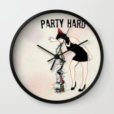 Party Hard - New Years Edition Wall Clock