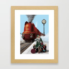 Don't miss the tain of your life Framed Art Print