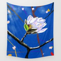 magnolia Wall Tapestries featuring Magnolia by Jonas Ericson