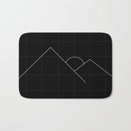 Apex Grid Dark Bath Mat